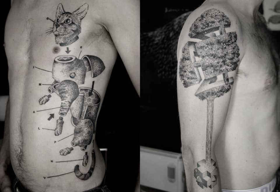 Famous Line Tattoo Artist : Wild d tattoos that are skin art at its best