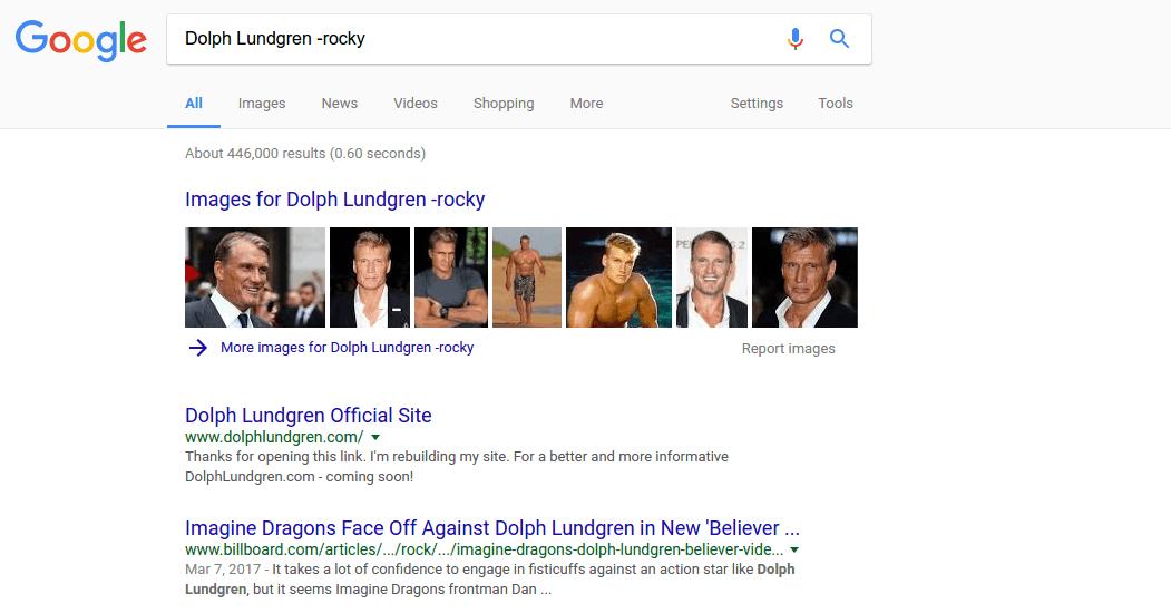 Remove Words – google tip