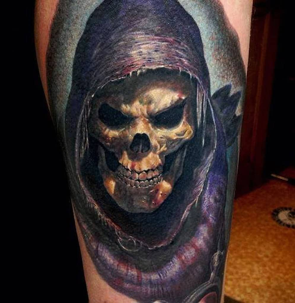 Skeletor – 3D tattoo