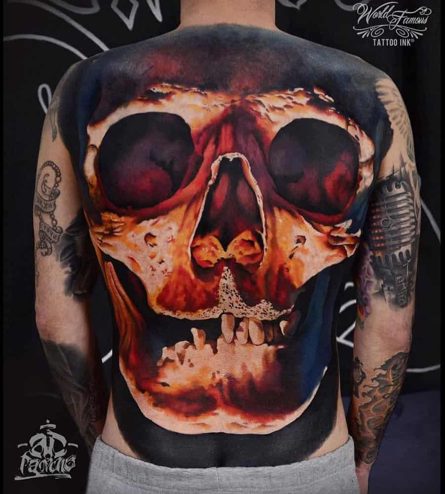 Skull – 3D tattoo