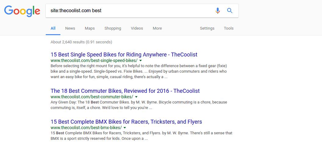 Use Site – google tip