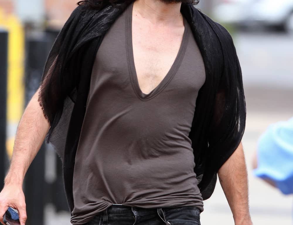 Russell Brand dropping off gifts and walking around New Orleans