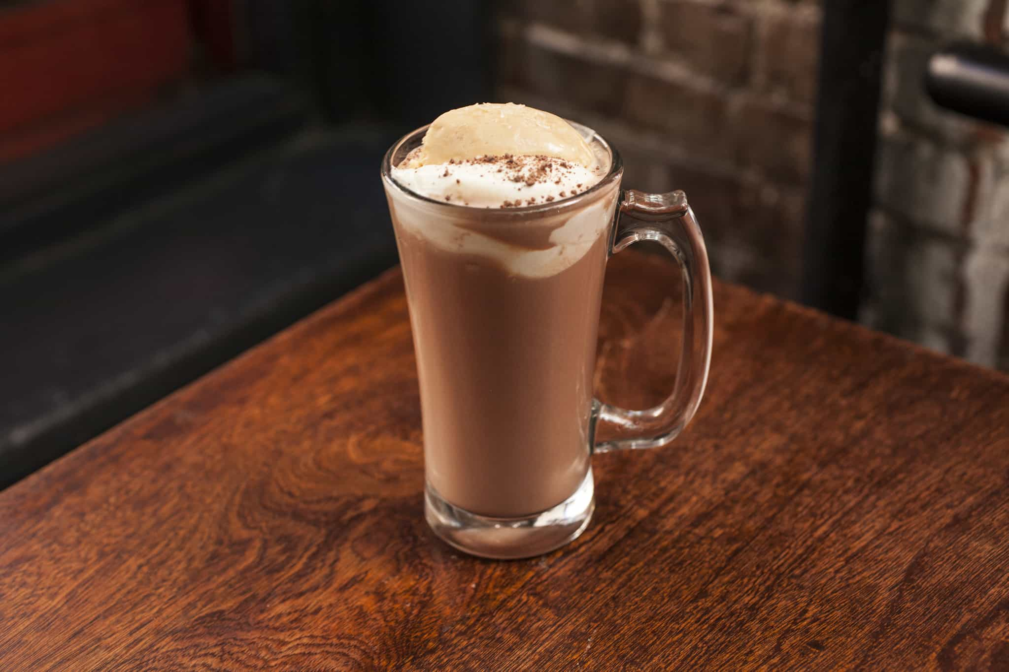 Double Chocolate Bourbon Egg Cream – whiskey drink