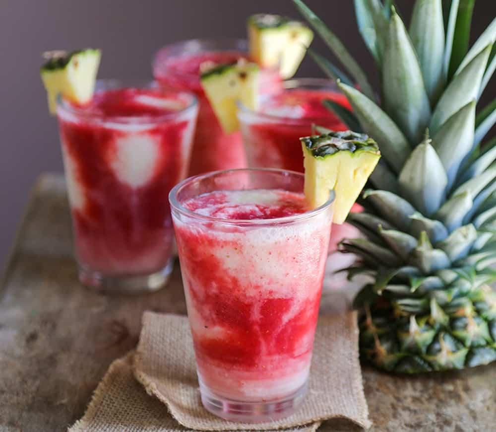 Lava Flow – rum cocktail