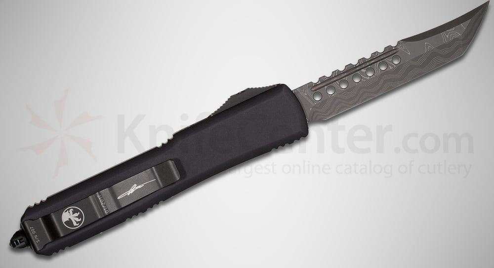 Microtech Ultratech Damascus Hellhound – automatic knife