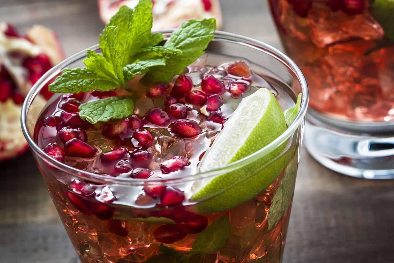Pomegranate Mojito – rum cocktail