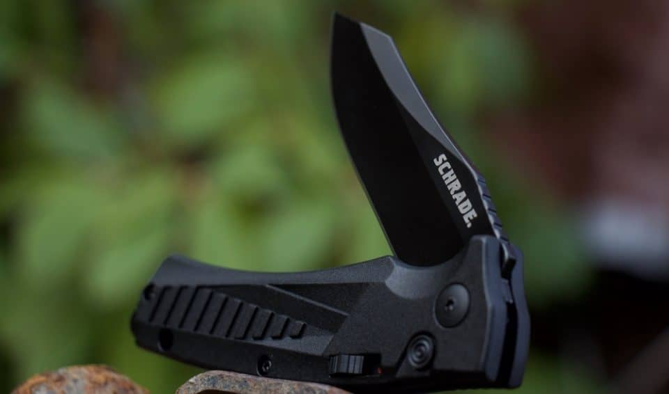 Schrade SC90 automatic knife 960x566 The 14 Best Automatic Knives in 2020 | Tomorrows Switchblades