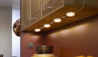 Under Cabinet Puck Lights 345x200 How to Choose Under Cabinet Lights For Any Kitchen