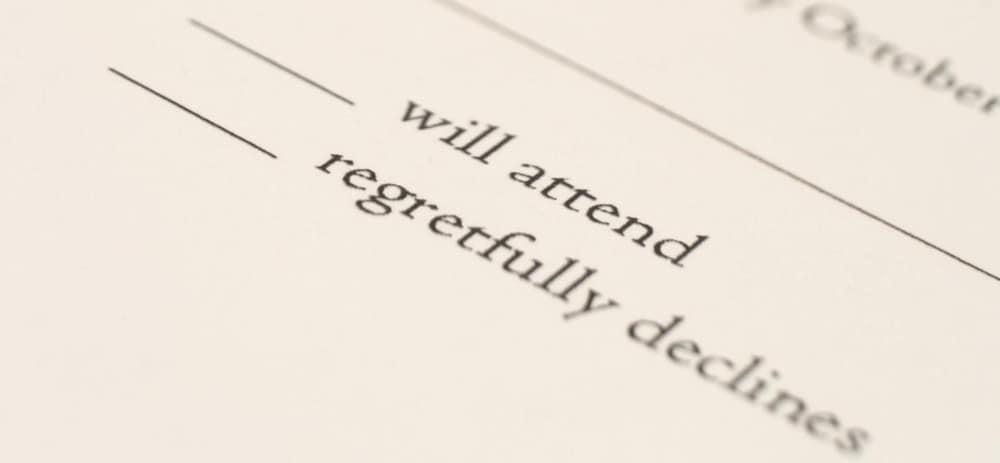 Will Not Attend – wedding etiquette
