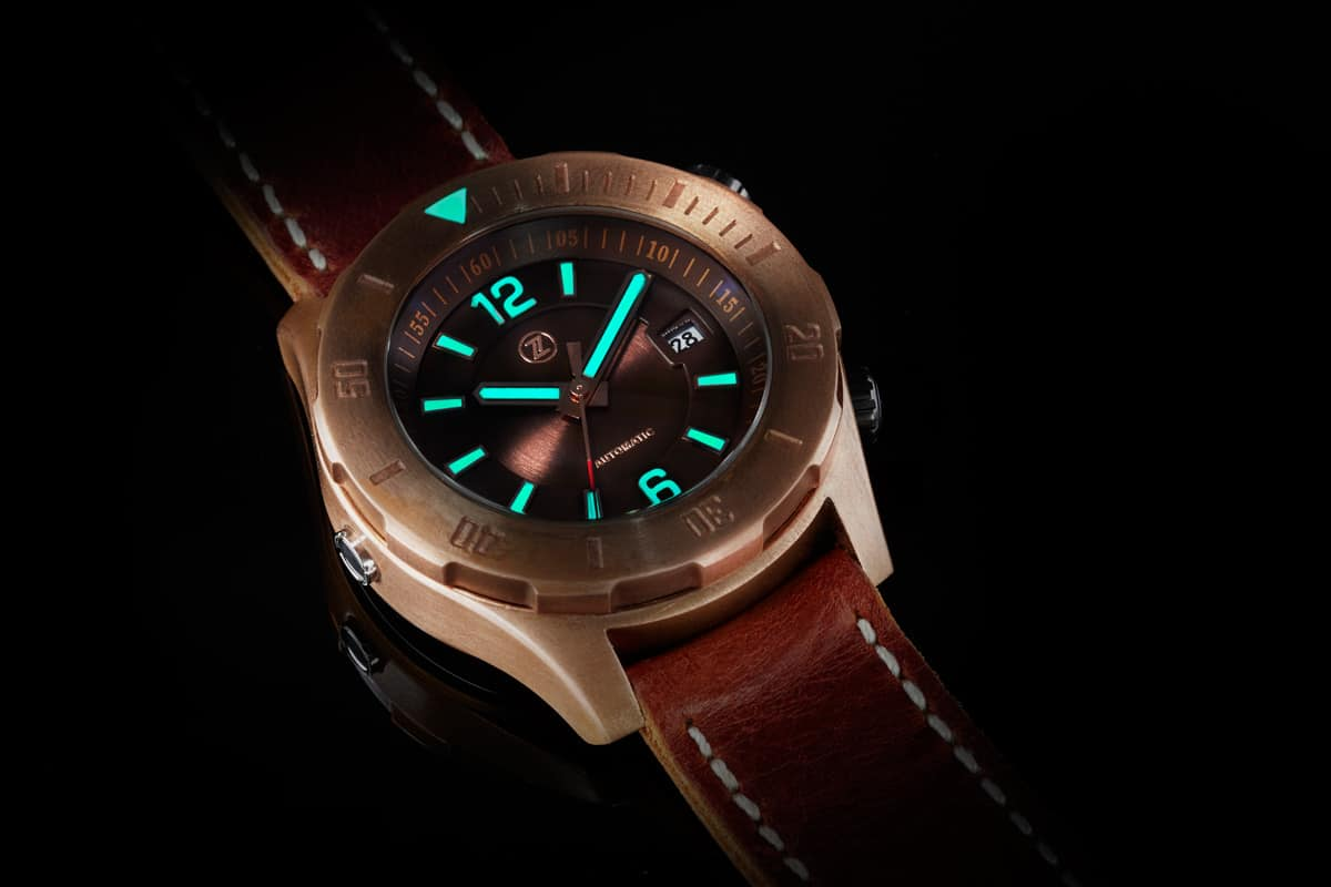 Zelos Abyss – bronze watch