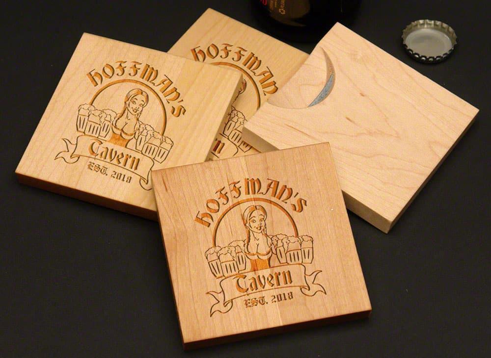 Bombshell Barmaid Beer Bottle Opening Coasters
