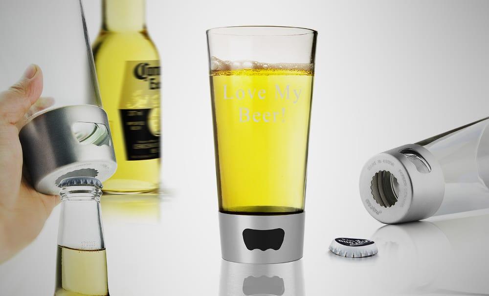 Bottle Opening Pint Glass