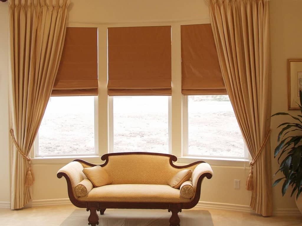 bay window curtain ideas related keywords amp suggestions bay window Window Treatment Ideas With Blinds And Curtains 1280 X 960