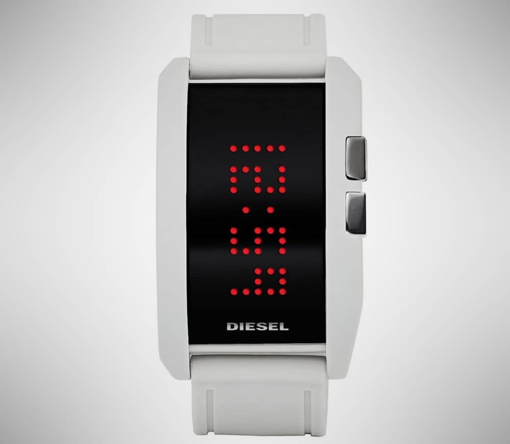 Diesel White Digital Watch
