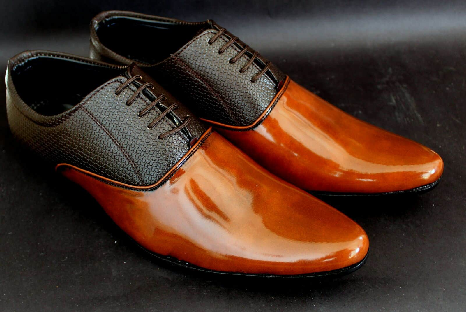 Finish and Shape – brown shoes black pants