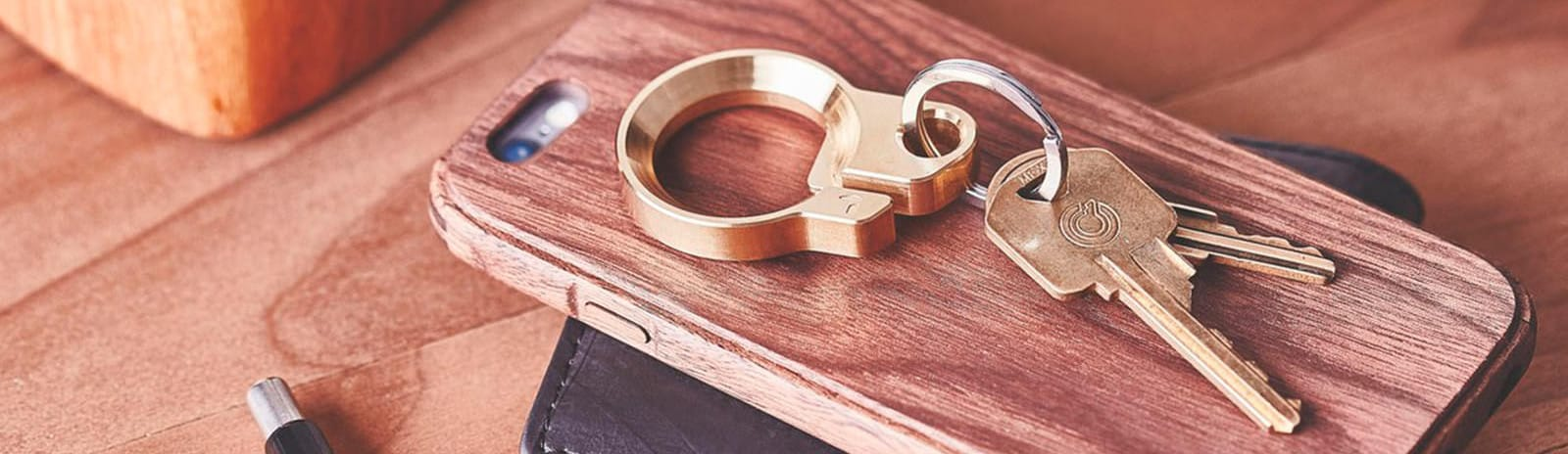Grovemade Brass Key Ring – bottle opener