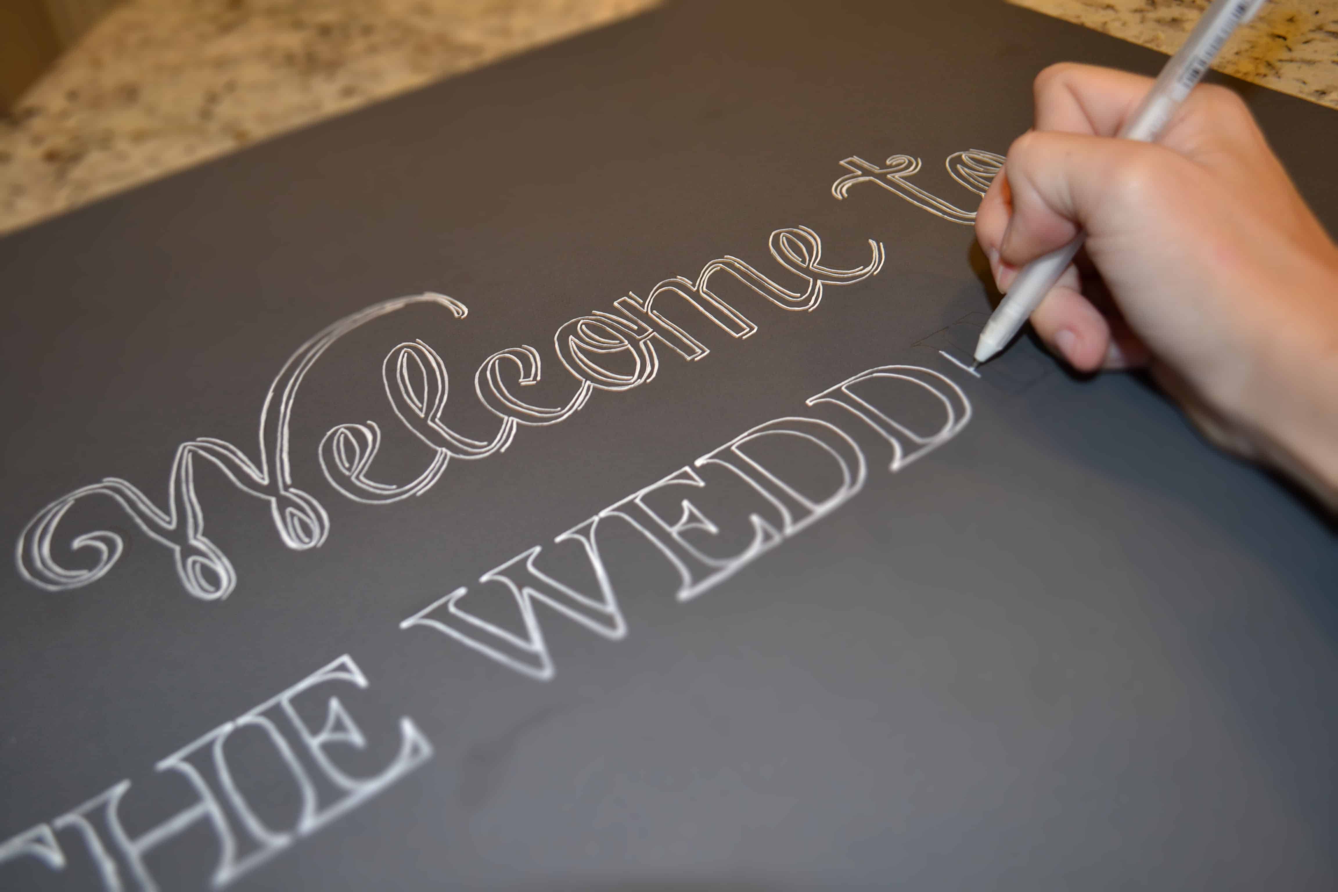 Handwritten – wedding decorations