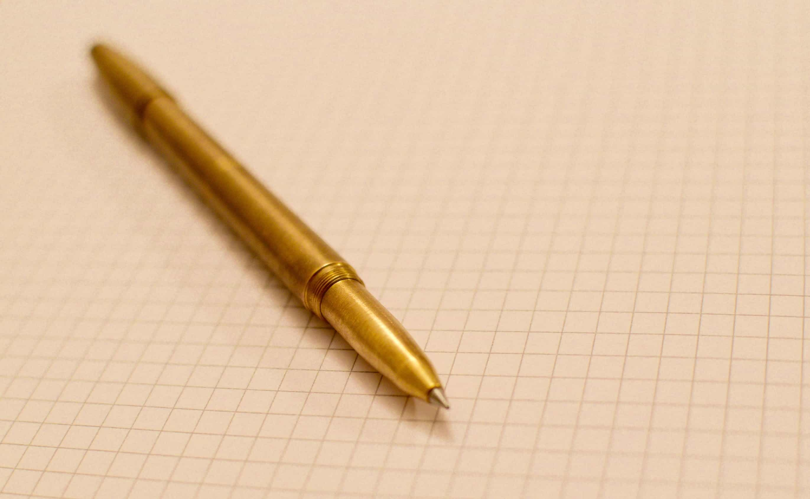 Machine Era Brass – edc pen