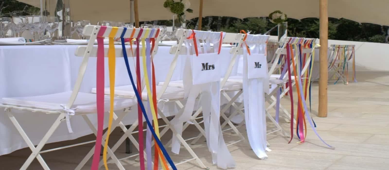 Reams of Ribbon – wedding decorations