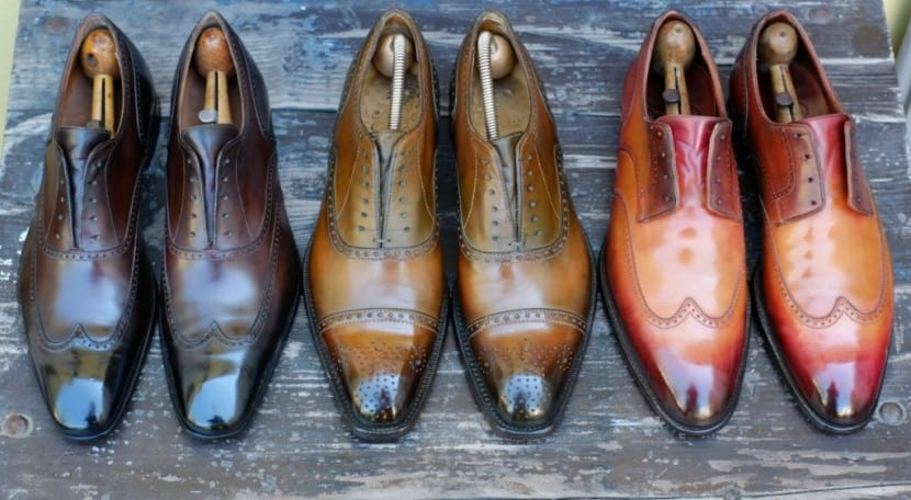 Shape and Finish – brown shoes black pants