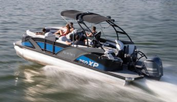Aqua Patio 250 XP pontoon boat 345x200 Personal Cruise: 12 Pontoon Boats Perfect for Water Play