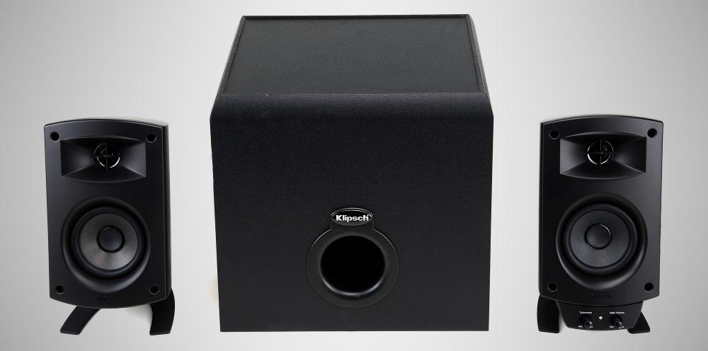 Klipsch ProMedia 2.1 – desktop speakers under $500