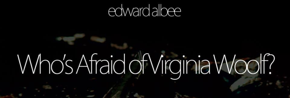 the theme of religion in edward albees play whos afraid of virginia woolf Folklore and myth in edward albee's who's afraid  of mythic symbolism in edward albee's who's afraid of virginia woolf,  equals rebirth theme of the play.