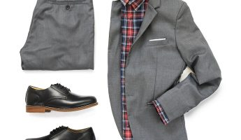 Black Oxford shoes clothing set