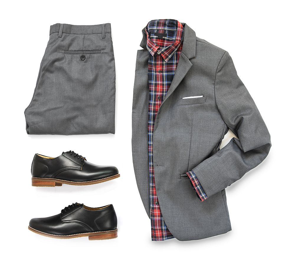 Black Oxford shoes clothing set