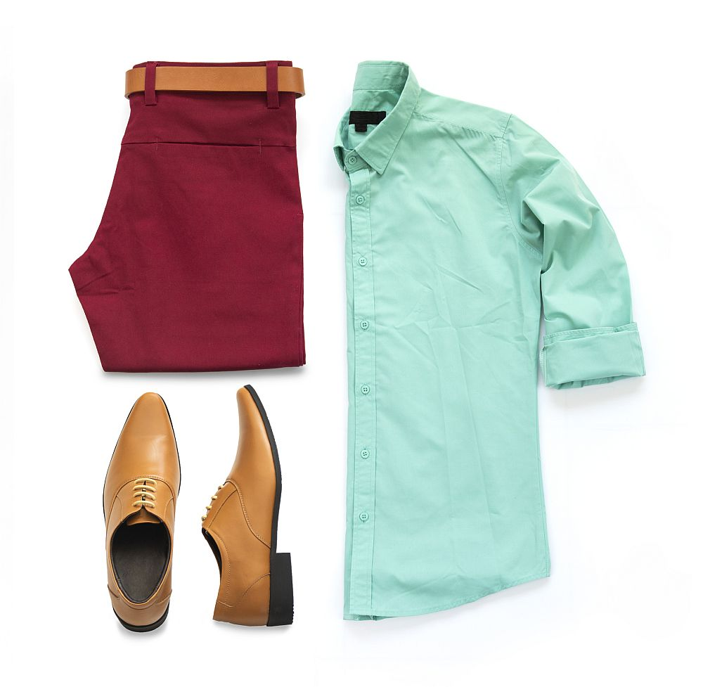 Brown Oxford shoes clothing set