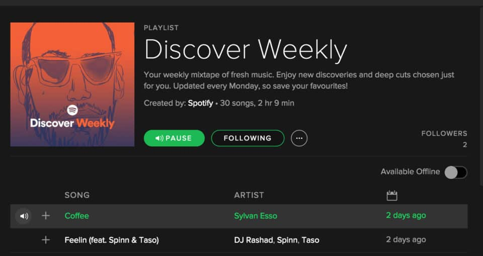 Discovery Weekly spotify tip 960x509 15 Tips and Tricks for Using Spotify Like a Power Player