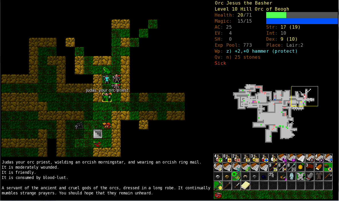 Dungeon Crawl Stone Soup – browser game