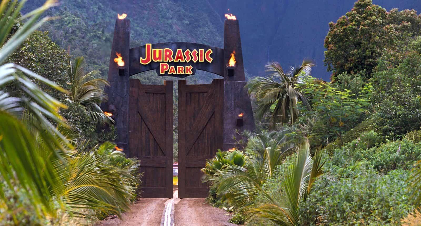 Jurassic Park – opening scene in movie