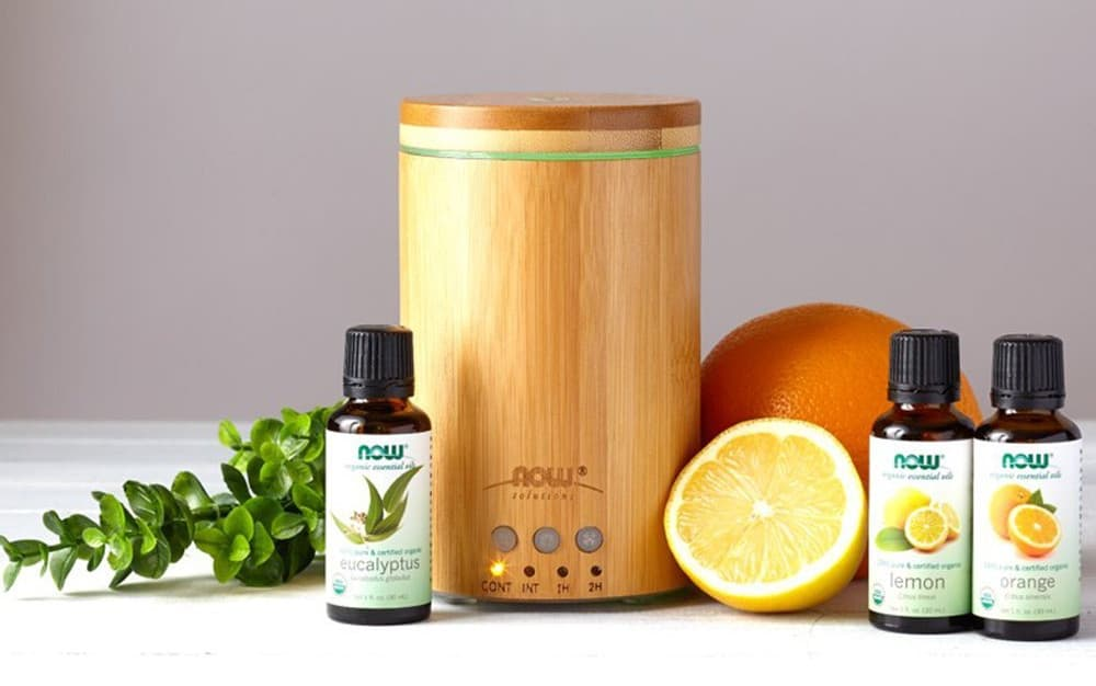 Now Foods Ultrasonic Real Bamboo Essential Oil Diffuser