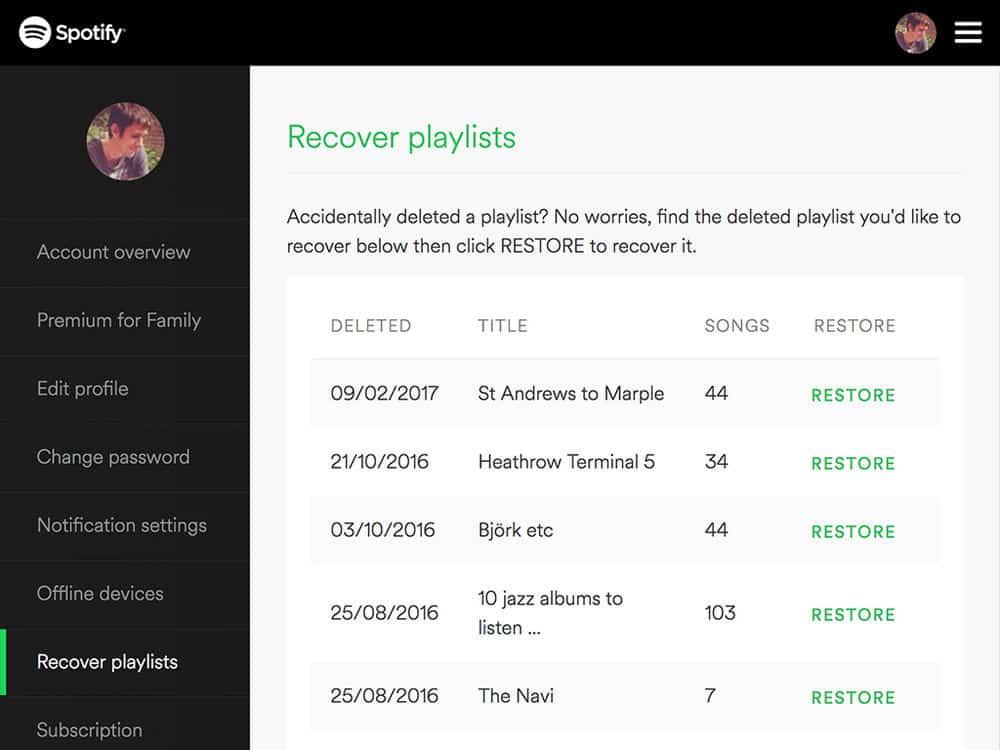 Recovery Playlist – spotify tip
