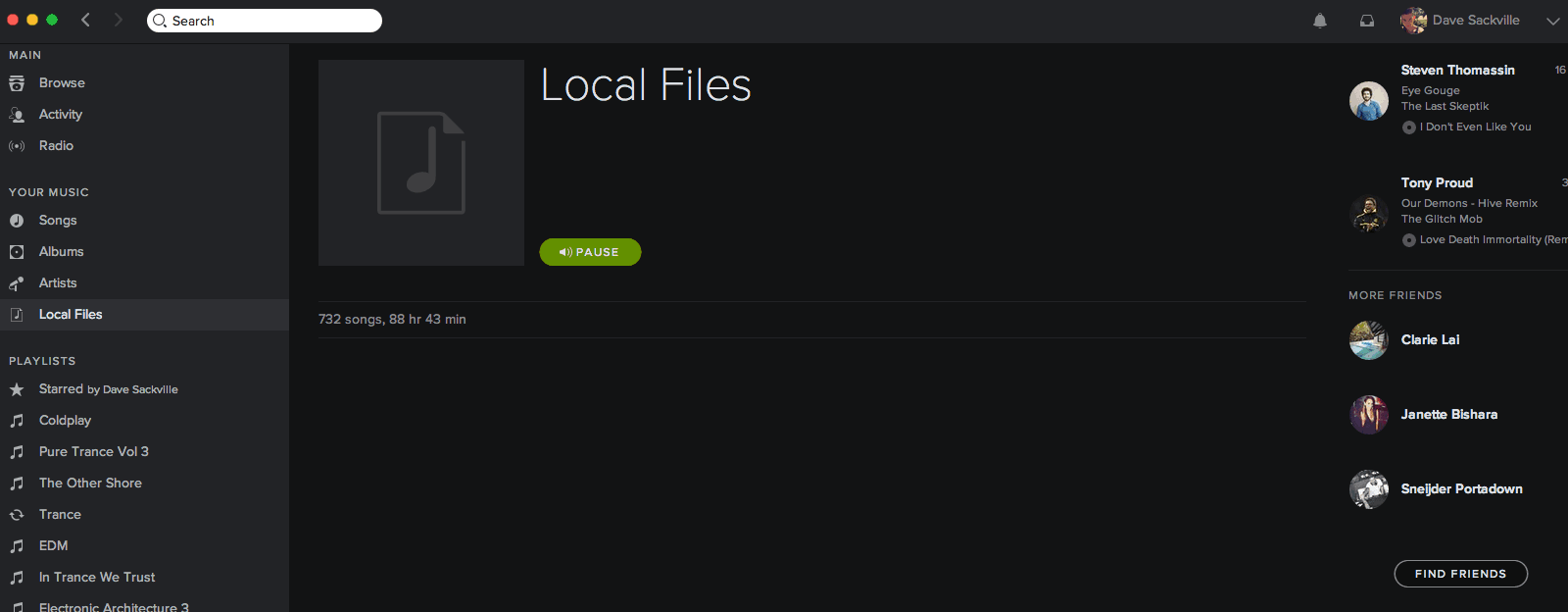 Source Locally – spotify tip