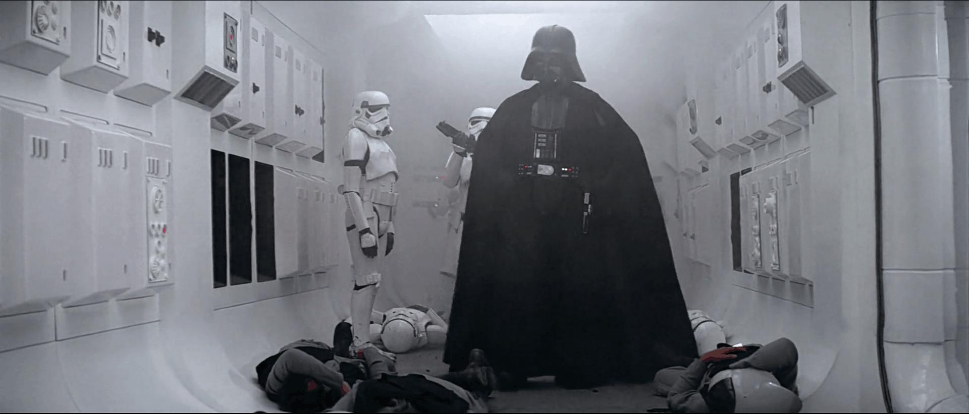 Star Wars – opening scene in movie