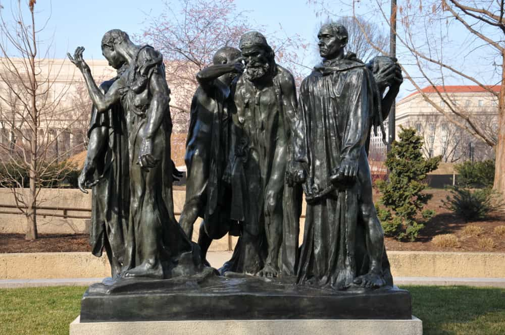 The Burghers of Calais – famous sculpture