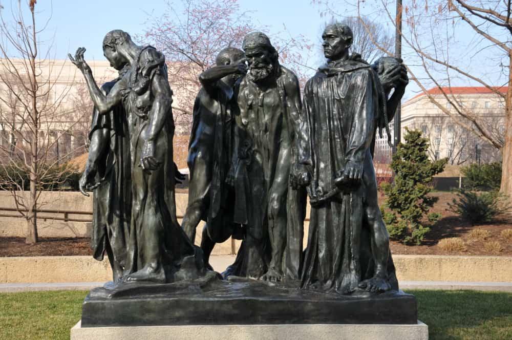 The Burghers of Calais – famous sculpture
