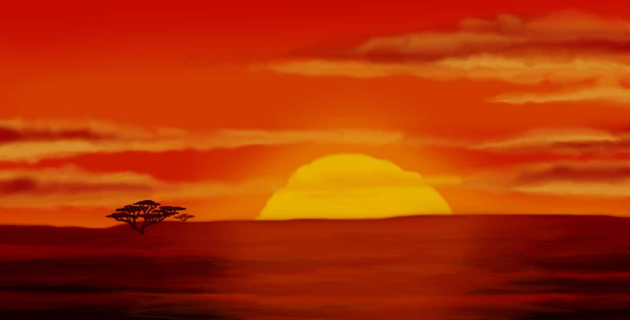 The Lion King – opening scene in movie