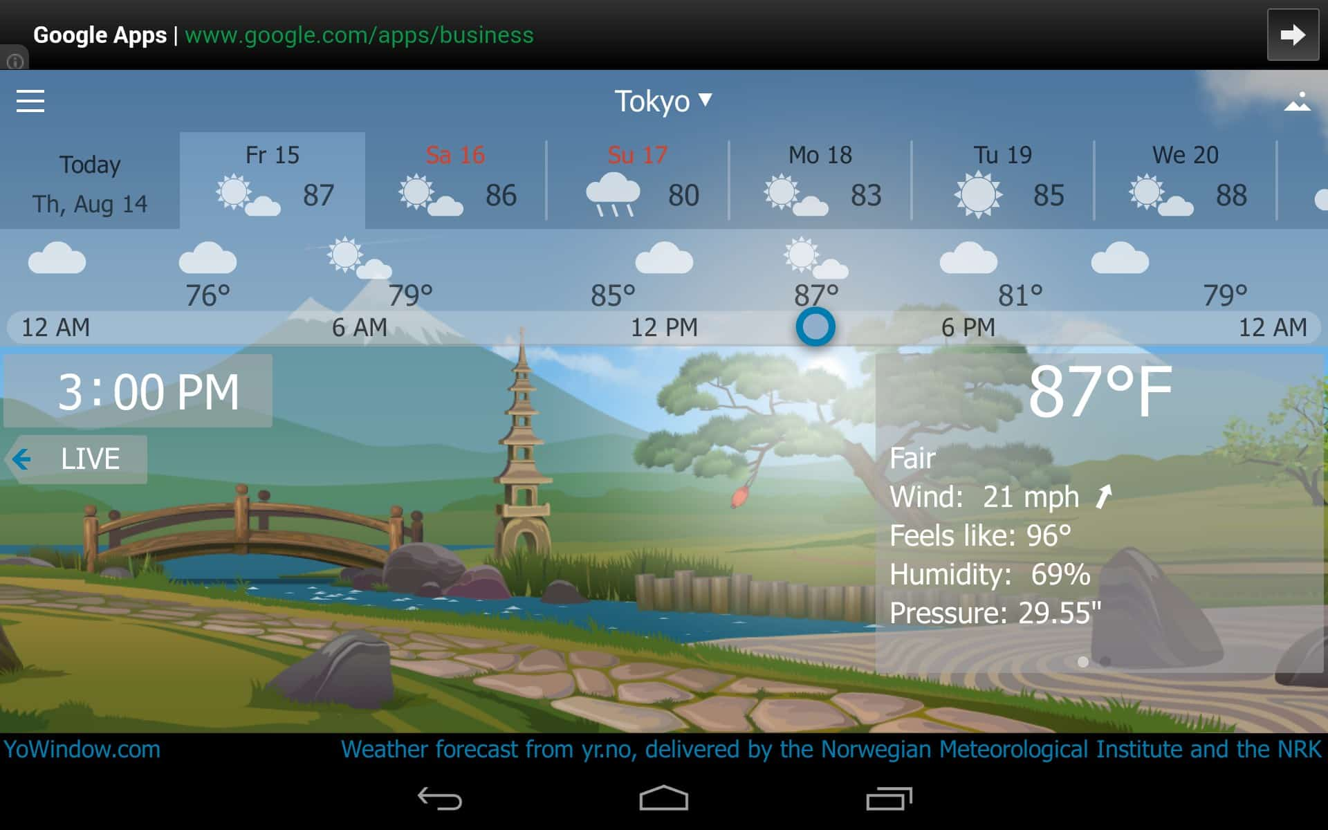 YoWindow – weather app