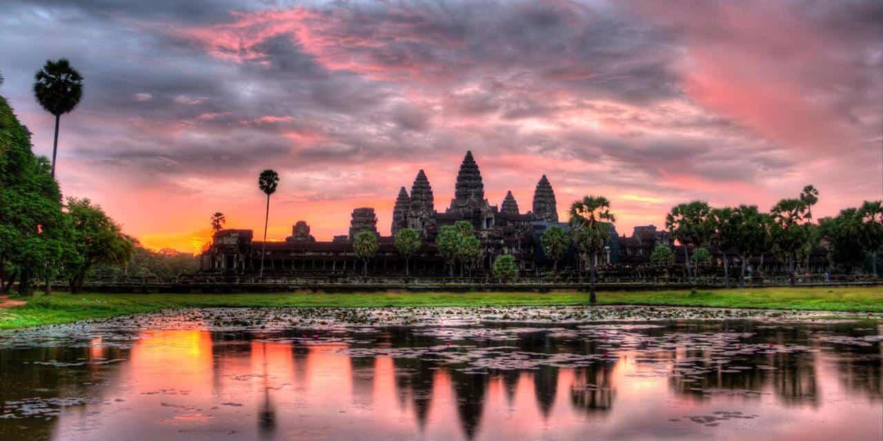 HDR Sunrise over Angkor Wat