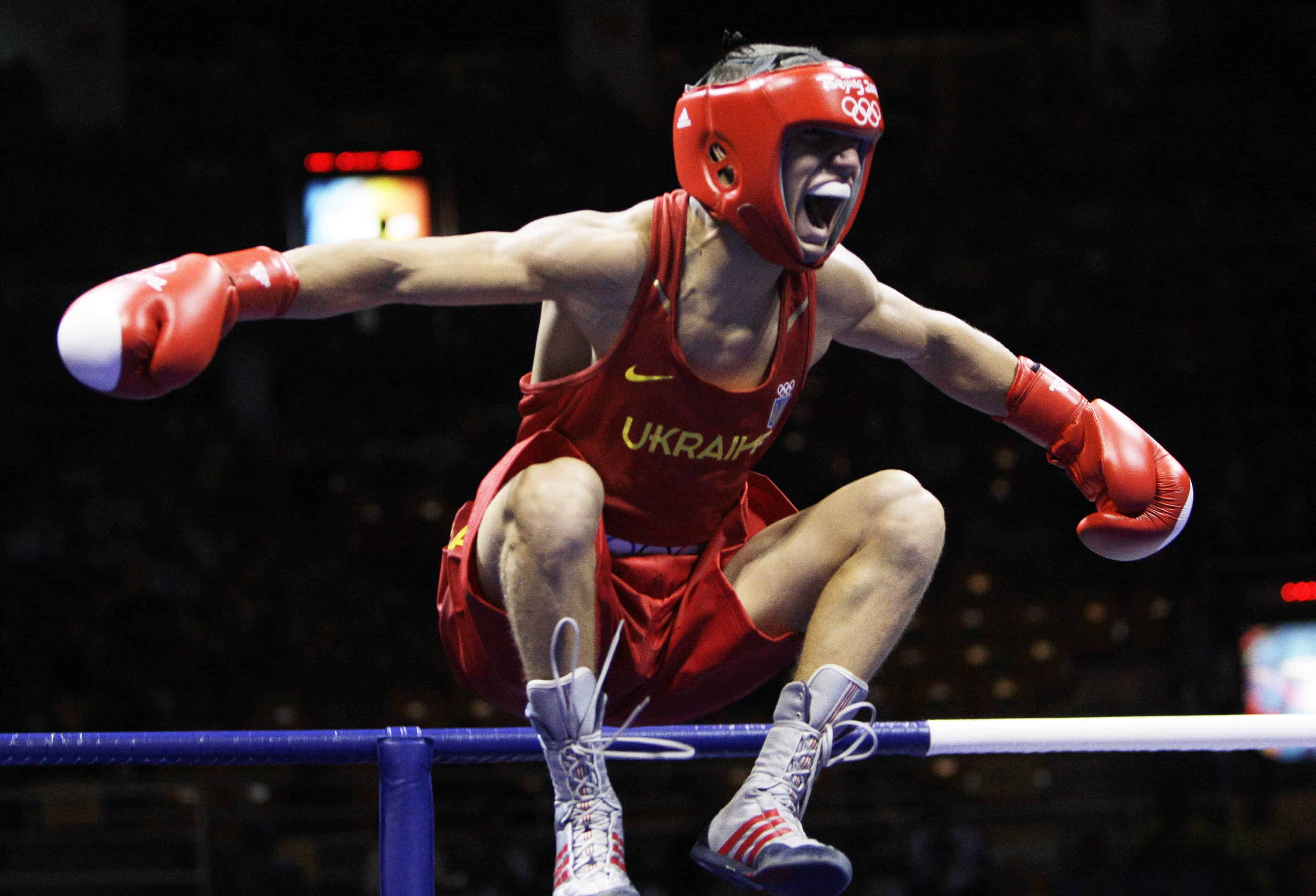 AP BEIJING OLYMPICS BOXING FEATHERWEIGHT S BOX CHN