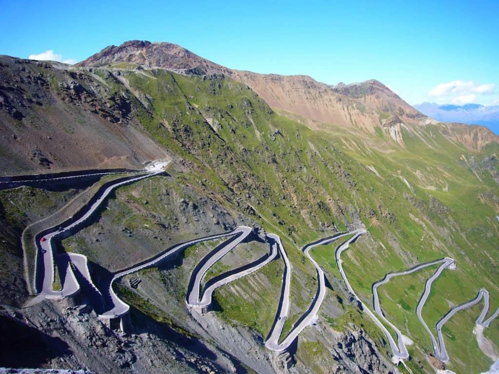 Stelvio Pass, Italy – road to drive