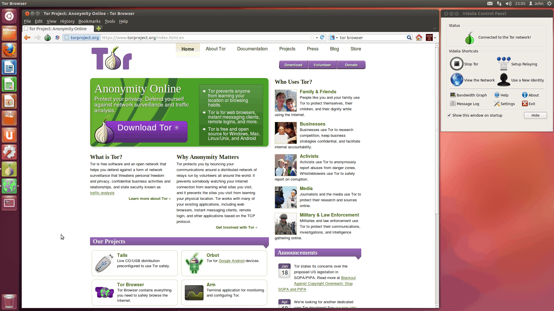 Tor Browser – online privacy