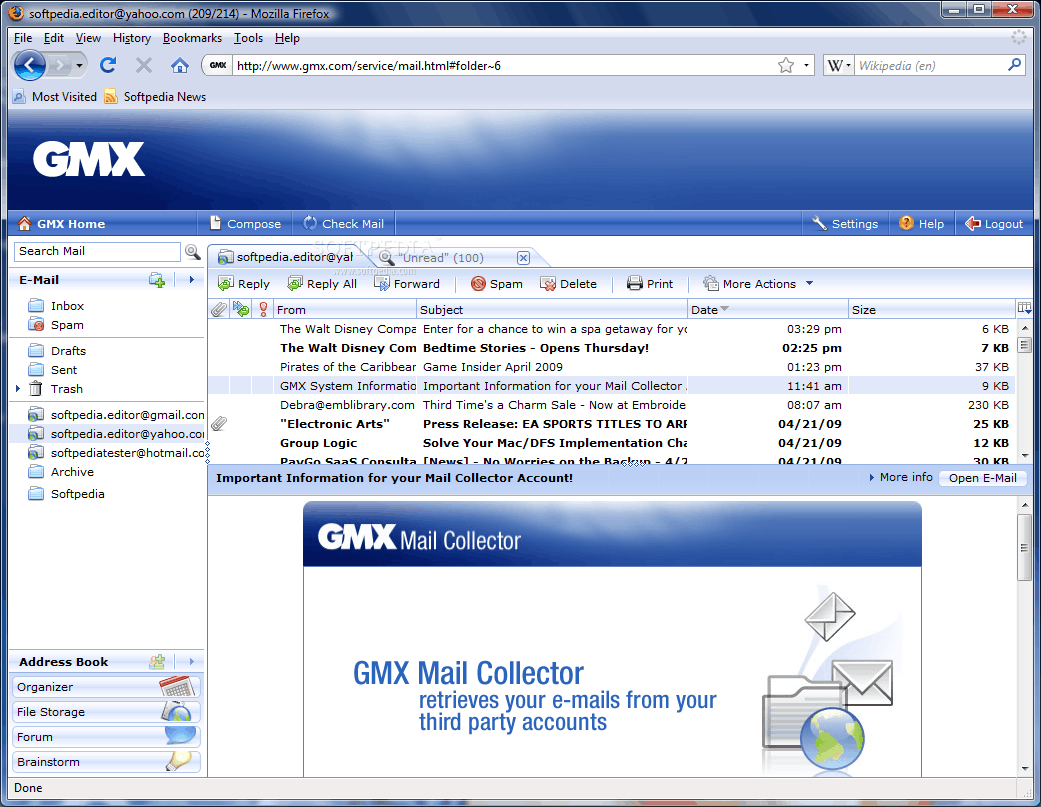 GMX – free email client