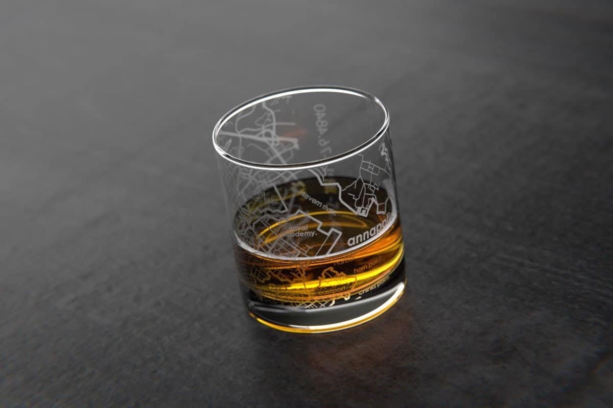 Map Glass – drinker gift