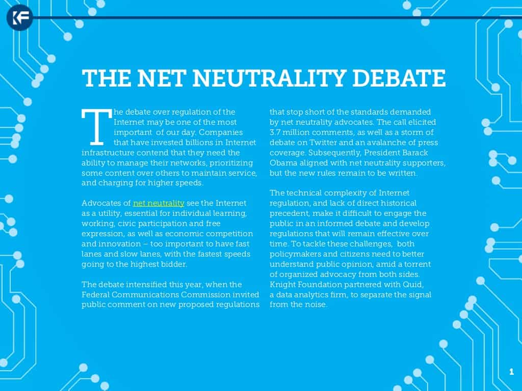 an analysis of the debate on net neutrality regulations Net neutrality is the principle that individuals should be free to access all content and applications equally, regardless of the source, without internet net neutrality rules prevent this by requiring isps to connect users to all lawful content on the internet equally, without giving preferential treatment to.