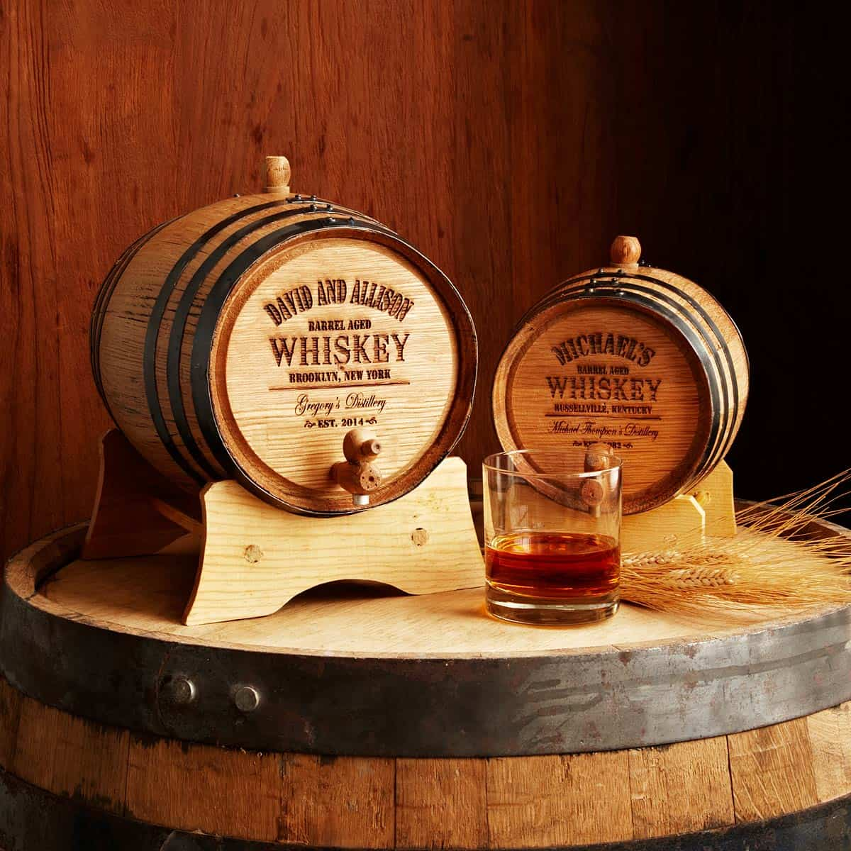 Personalized Whiskey Barrel – drinker gift