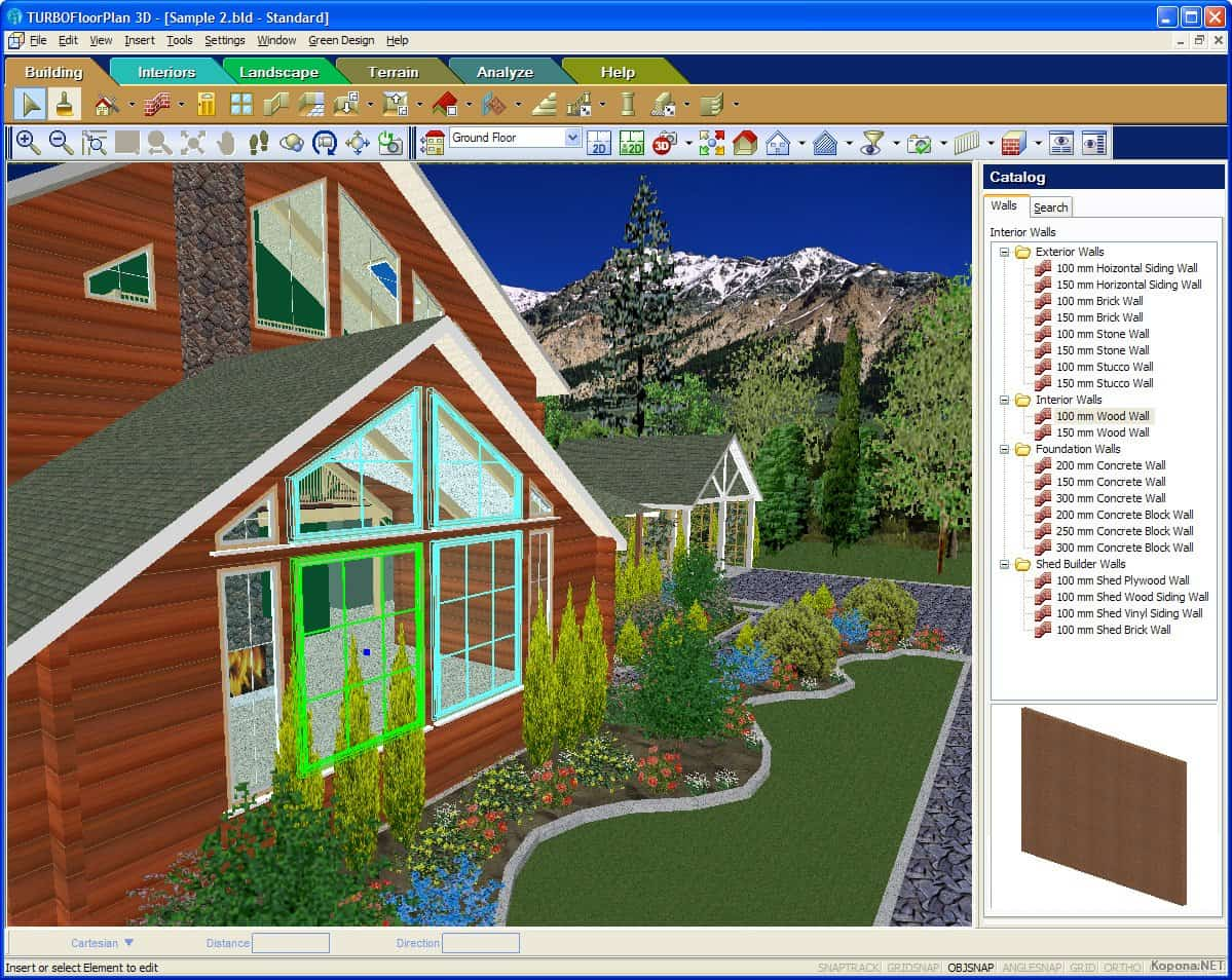 TurboFloorPlan Home & Landscape Pro – home design software